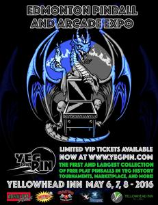 Edmonton Pinball Expo Poster